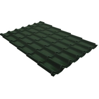 Металлочерепица Grand Line Kvinta Plus 3D GreenСoat Pural 0,5 мм RR 11